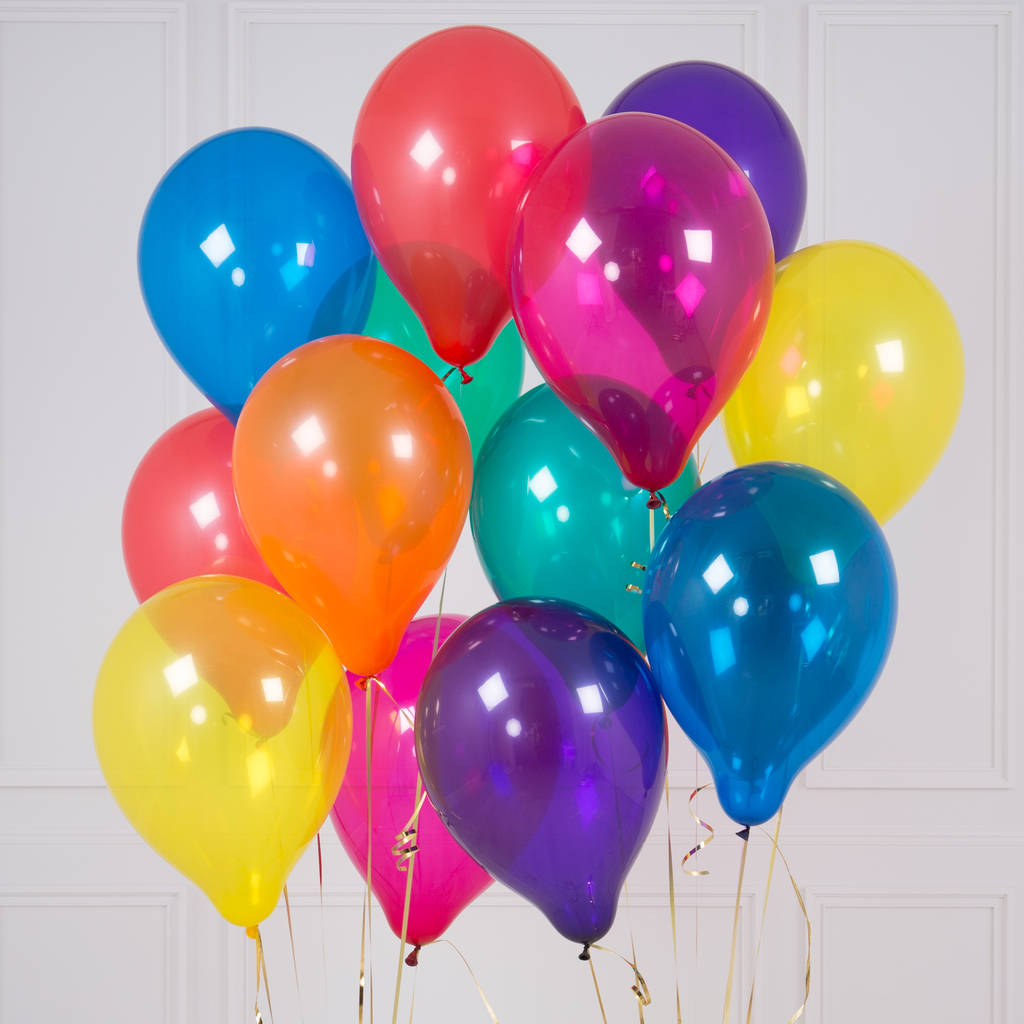 Dozen Helium Balloons | Free Delivery | Our Gift Spot