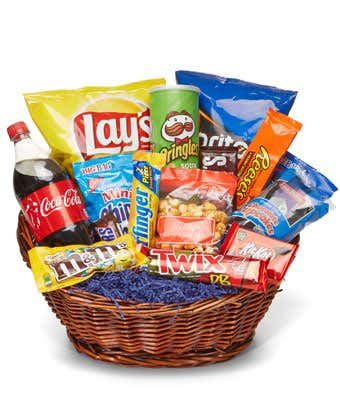 Chocolates and Crisps Basket | Gourmet Hampers Pakistan | Our Gift Spot